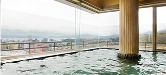 Indoor Bath with Lake View